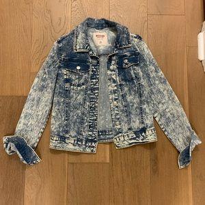 Mossimo- Acid wash denim jacket